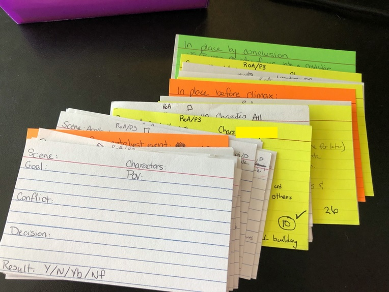 Color coded plot cards